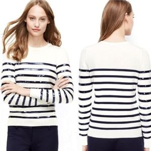 Ann Taylor Woman's Striped Sweater Size Large